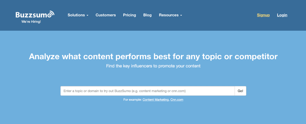 BuzzSumo Blogger Outreach Tools