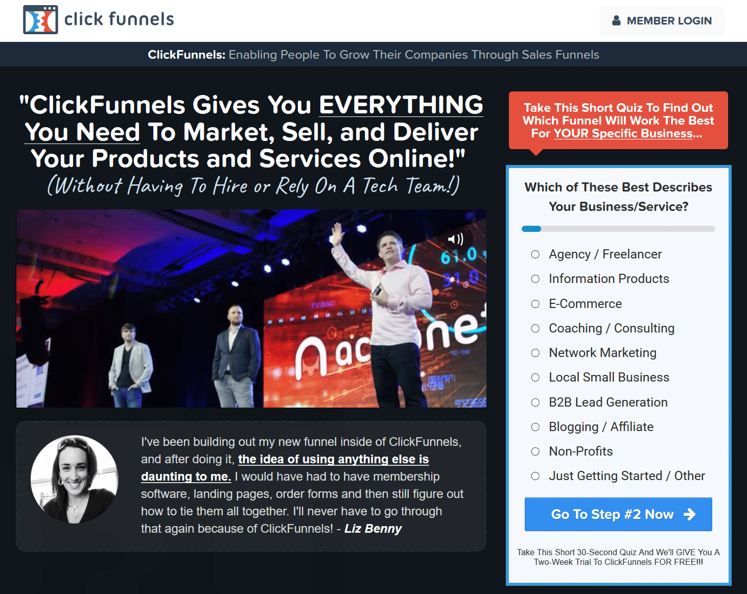Contact Form Clickfunnels