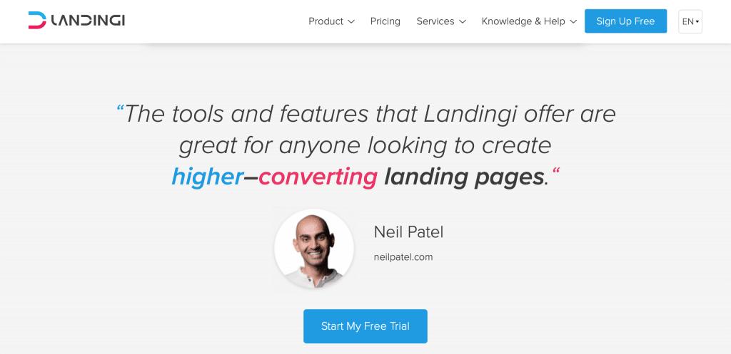 LandingI landing page builder